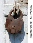 Old Rusted Garage Padlock