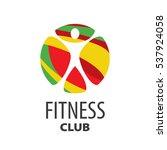 vector logo fitness | Shutterstock .eps vector #537924058