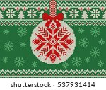 merry christmas and new year... | Shutterstock .eps vector #537931414