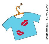 blue t shirt with spots of... | Shutterstock .eps vector #537931690