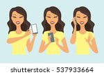 young casual woman character... | Shutterstock .eps vector #537933664