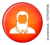 user icon in red circle... | Shutterstock .eps vector #537935938