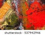 abstract art background. oil... | Shutterstock . vector #537942946