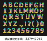 colorful alphabet and digits | Shutterstock . vector #537943066
