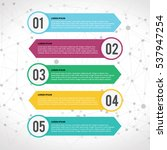 vector colorful info graphics | Shutterstock .eps vector #537947254