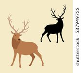 male deer vector illustration... | Shutterstock .eps vector #537949723