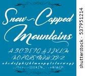script font typeface snow...   Shutterstock .eps vector #537951214