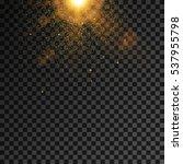 golden burst  light effect on... | Shutterstock .eps vector #537955798