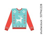 ugly christmas sweater with... | Shutterstock .eps vector #537961228