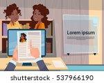 hand hold woman resume... | Shutterstock .eps vector #537966190