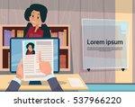 hand hold woman resume... | Shutterstock .eps vector #537966220