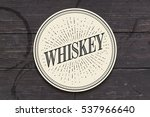 beverage coaster for glass with ... | Shutterstock .eps vector #537966640