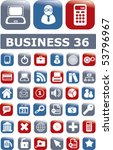 36 glossy business buttons.... | Shutterstock .eps vector #53796967
