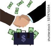 business deal. shaking hands.... | Shutterstock .eps vector #537970354