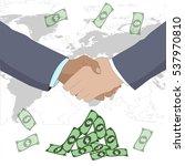 business deal. shaking hands.... | Shutterstock .eps vector #537970810