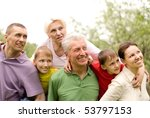 family on the nature | Shutterstock . vector #53797153