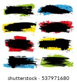 vector colorful grunge banners. ... | Shutterstock .eps vector #537971680