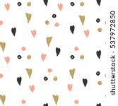 pattern with hearts and spots....   Shutterstock . vector #537972850