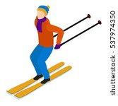 skiing man  skiing  isometric...   Shutterstock .eps vector #537974350