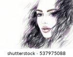 fashion illustration. abstract... | Shutterstock . vector #537975088