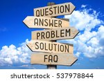 wooden signpost   support ... | Shutterstock . vector #537978844