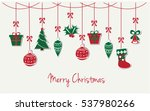 merry christmas greeting card... | Shutterstock .eps vector #537980266