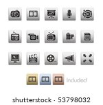 multimedia    metallic series   ... | Shutterstock .eps vector #53798032
