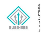 business vector logo template... | Shutterstock .eps vector #537981004