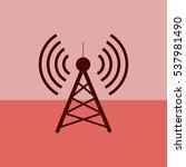 antenna.vector icon. radio...   Shutterstock .eps vector #537981490