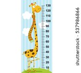 long neck giraffe height... | Shutterstock .eps vector #537986866