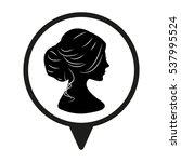 woman  head  silhouette ... | Shutterstock .eps vector #537995524