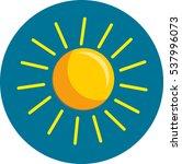 vector weather icon | Shutterstock .eps vector #537996073