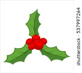 traditional christmas plant.... | Shutterstock .eps vector #537997264