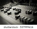 sound mixing board | Shutterstock . vector #537999616