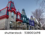 colorful victorian houses in... | Shutterstock . vector #538001698