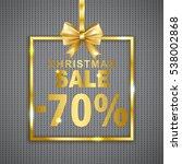 christmas sale  70  discount ... | Shutterstock .eps vector #538002868
