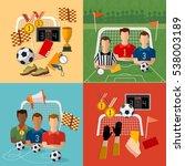 soccer icon set  football team  ... | Shutterstock .eps vector #538003189