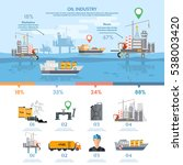oil industry infographics... | Shutterstock .eps vector #538003420