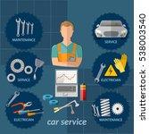car service infographics... | Shutterstock .eps vector #538003540