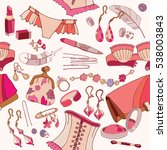 woman accessories seamless... | Shutterstock .eps vector #538003843