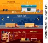 warehouse banner  cargo... | Shutterstock .eps vector #538004134