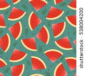 seamless background with juicy... | Shutterstock .eps vector #538004200