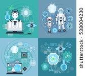 creation of robots ... | Shutterstock .eps vector #538004230