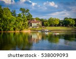 house on the shore of lake... | Shutterstock . vector #538009093