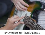 learning to play the guitar.... | Shutterstock . vector #538012513