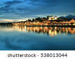 the town of nyon and lake... | Shutterstock . vector #538013044