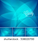 curvy abstract background.... | Shutterstock .eps vector #538020700