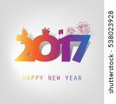 simple colorful new year card ... | Shutterstock .eps vector #538023928