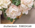 red  and white peony plastic... | Shutterstock . vector #538024168