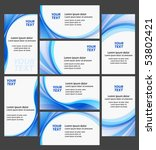Clean business cards high quality collection - White and blue  colors - creative templates - stock vector